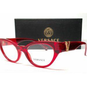 Versace Women's Transparent Red Eyeglasses!